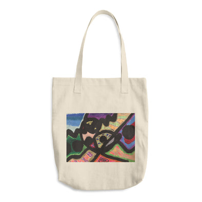 Abstract Lines Cotton Tote Bag