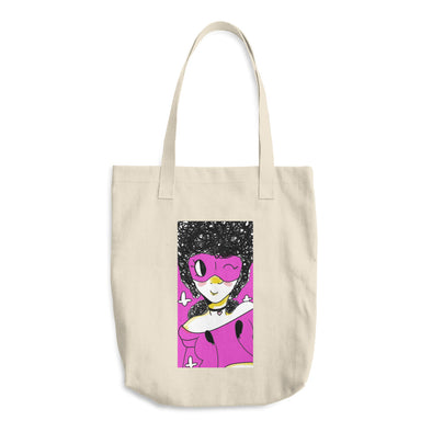 Masked Girl Cotton Tote Bag