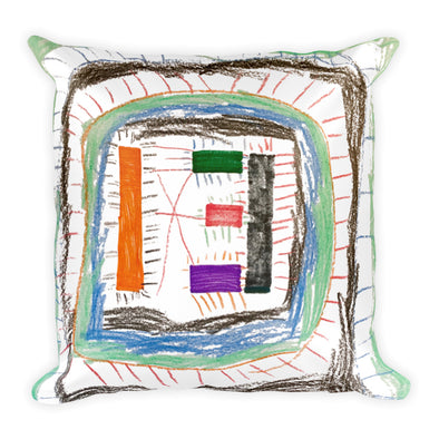 Line Monster Square Pillow