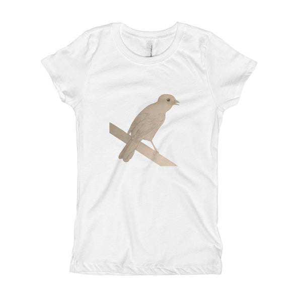 Bird Sketch Girl's T-Shirt