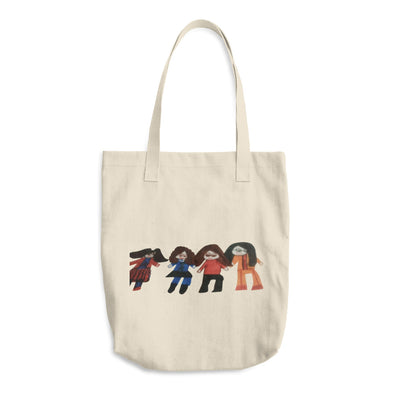 A Group of Friends Cotton Tote Bag