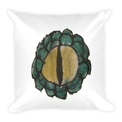 Reptile Eye Square Pillow