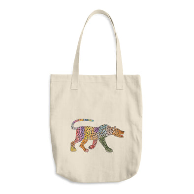 A rainbow coloured cheetah Cotton Tote Bag