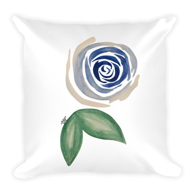 Blue Flower Square Pillow