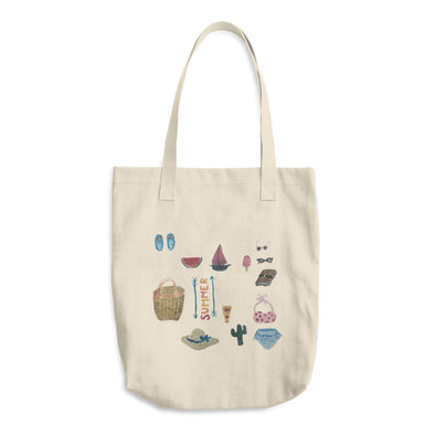 All Things Summer Cotton Tote Bag