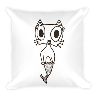 Mer-kitty Square Pillow