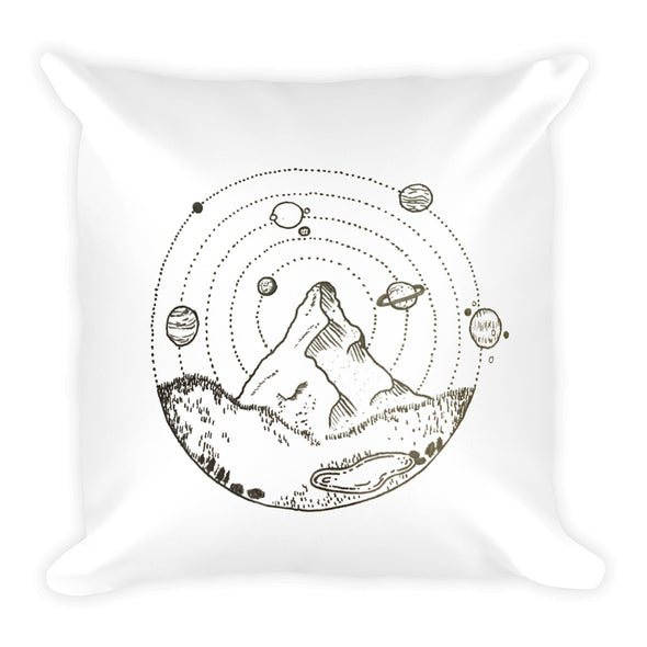 A Galaxy on Earth Square Pillow