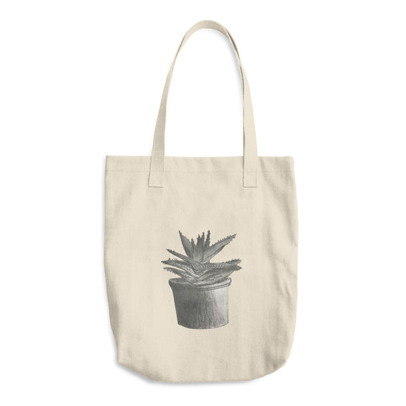 Aloe Plant Cotton Tote Bag
