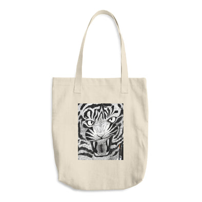 Full Furious Tiger Cotton Tote Bag