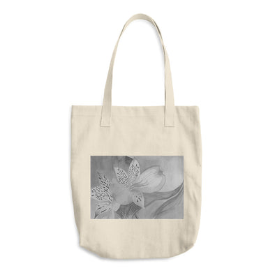 Grey Florals Cotton Tote Bag
