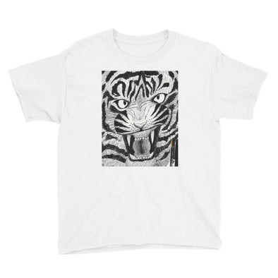 Full Furious Tiger Youth Short Sleeve T-Shirt