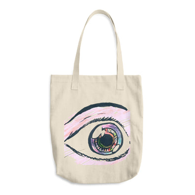 Eyeballing Colored Cotton Tote Bag