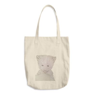 Baby Wolf Cotton Tote Bag