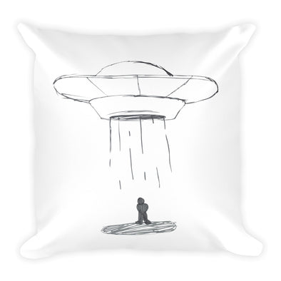 Aliens Square Pillow