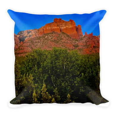 Painted God Square Pillow