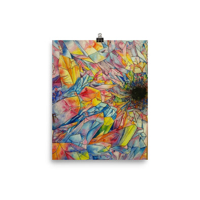 Crystal Formation Water Color Poster