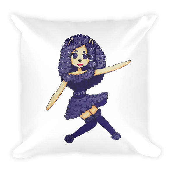 Alpaca Girl Square Pillow