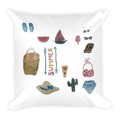 All Things Summer Square Pillow