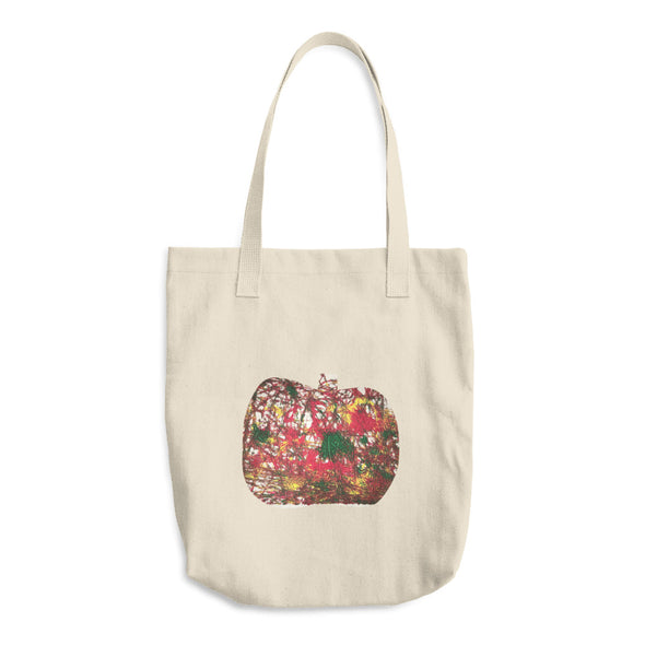 Apple Splatter Cotton Tote Bag