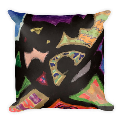 Abstract Lines Square Pillow