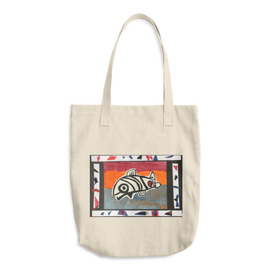 Sammy Salmon Cotton Tote Bag