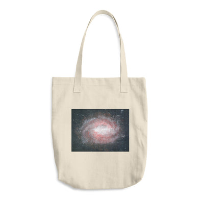 A red galaxy Cotton Tote Bag