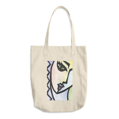 Face of Many Colors Cotton Tote Bag