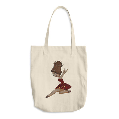 The Red Dress Cotton Tote Bag