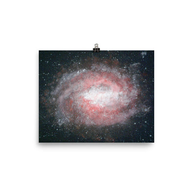A red galaxy Poster