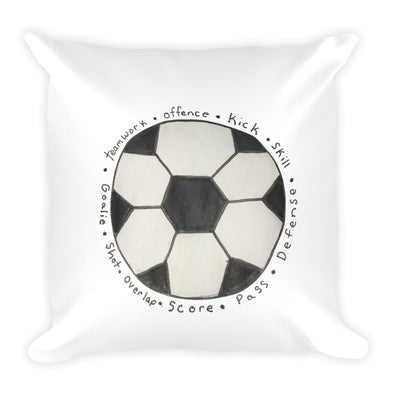 Soccer Ball Square Pillow