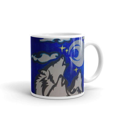 Wolves in the Night Sky Mug