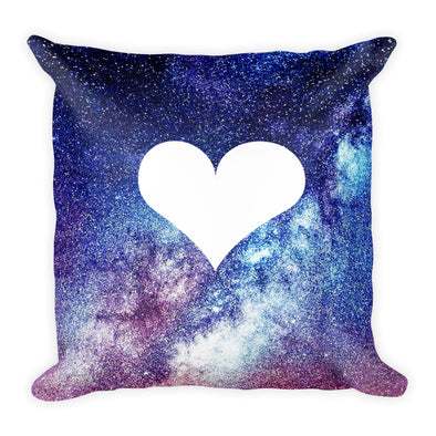 Heart Galaxy Square Pillow