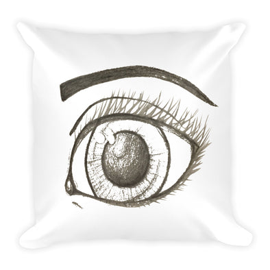 Eyes are the Sea to the Soul Square Pillow