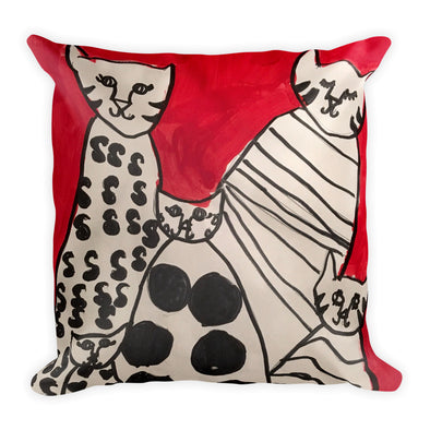 Cats Square Pillow