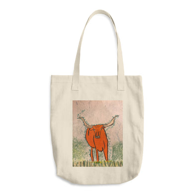 Billy the Steer Cotton Tote Bag