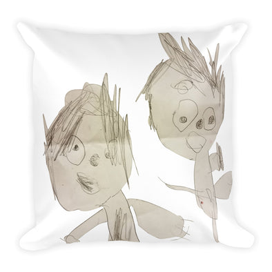 My Brother and Me Square Pillow