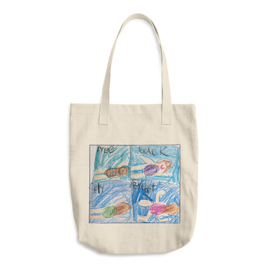 Swim Strokes Cotton Tote Bag