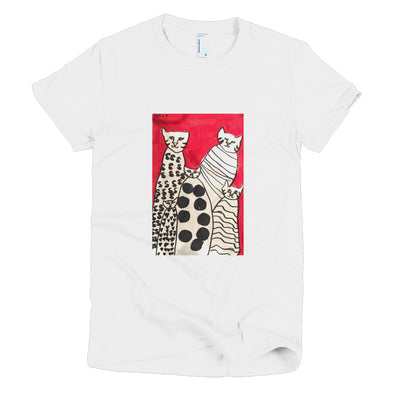 Cats Short sleeve women's t-shirt
