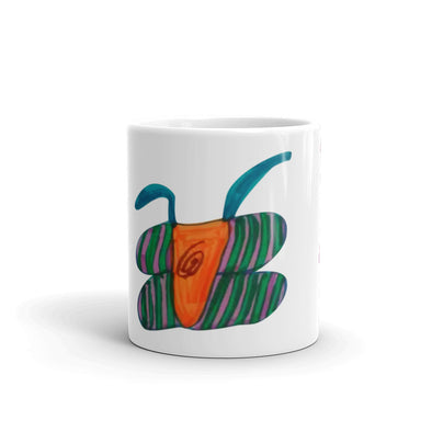 Abstract Butterfly Diamond Mug