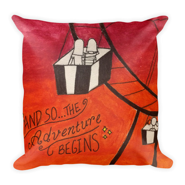 Adventures Square Pillow