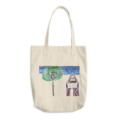 Treehouse Cotton Tote Bag