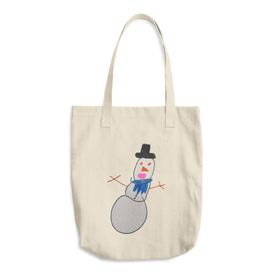 Alfred the Snowman Cotton Tote Bag