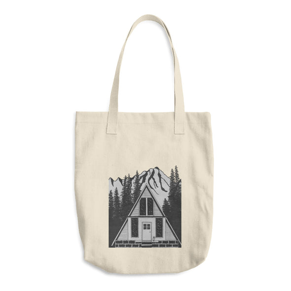 A Frame House Cotton Tote Bag