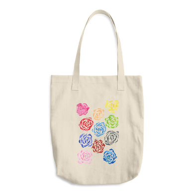 Abstract Flowers Cotton Tote Bag