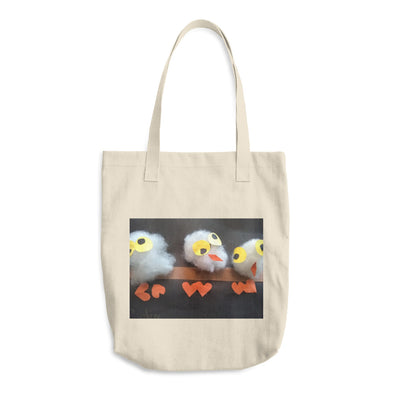 Owls in the Treetops Cotton Tote Bag