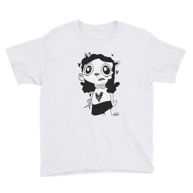 Awkward Cat Youth Short Sleeve T-Shirt