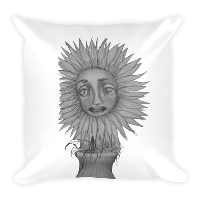 Flower Face Square Pillow