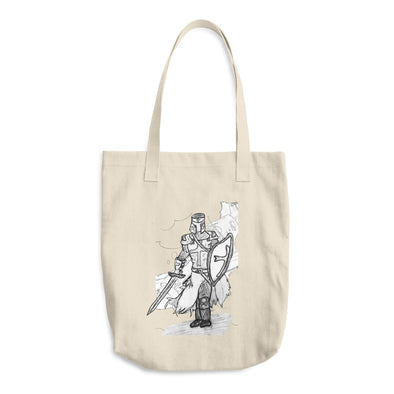The Knight of Old Cotton Tote Bag