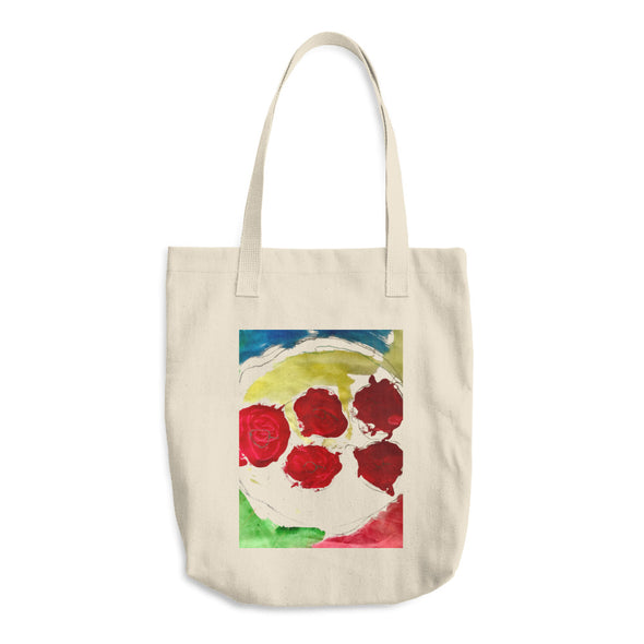 Apples on a Plate Cotton Tote Bag