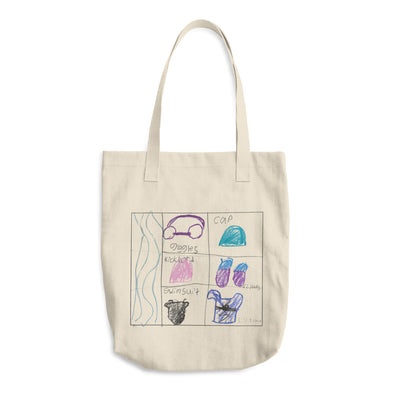 Swim Gear Cotton Tote Bag